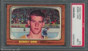 1966 Topps #35 Bobby Orr RC Rookie HOF NM PSA 7