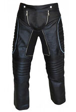 MENS X-MEN STYLE SEXY REAL BLACK LEATHER PANTS JEANS TROUSERS