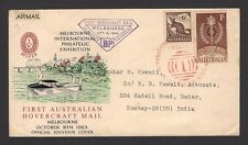 Australia 1963 First Hovercraft Mail cacheted cover