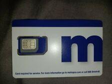 New listing Metro by T-Mobile Sim Card 3 In 1 Triple Cut Nano Micro