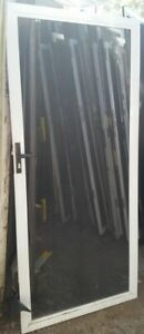 Hinged Stainless Steel Screen - 2065h x 916w White *Factory 2nd* 40269