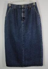 Vivaldi Jeanswear Vintage Blue Jean Denim Skirt Long Straight Pencil Slit sz 12