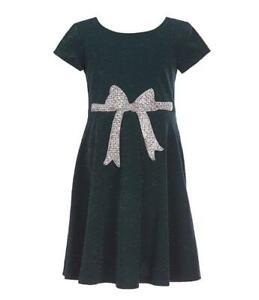 BONNIE JEAN® Little Girls 6 Glitter Bow Fit & Flare Dress NWT