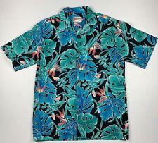 Hilo Hattie Hawaiian Shirt Aloha Friday Men's L Button Front Floral