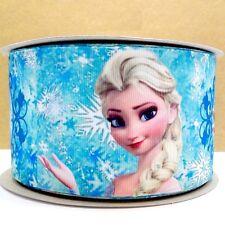 Cinta De Cumpleaños Pastel Decoración Pastel Artesanía - 50 Mm-Elsa de Frozen - 1 M