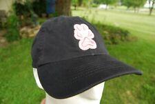 Southern Illinois Siu Carbondale Salukis Black Cap Hat Pink White Paw Print Logo