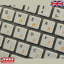 ITALIANO tastiera trasparente adesivi con lettere Arancione per Laptop PC Computer