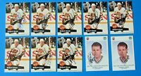 LOT OF 10 ROBERT KRON SIGNED HOCKEY CARDS ~ 1991-92 PRO SET ~ 100% GUARANTEE