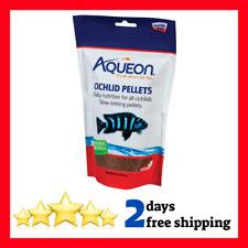 Aqueon Cichlid Food Pellets Slow-sinking pellets natural ingredients 8-1/2-Ounce