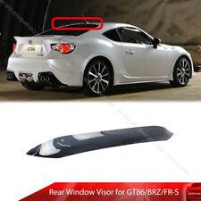 For 12-20 Toyota GT86 Subaru BRZ Scion FR-S Rear Window Roof Visor Dark Smoke