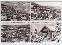 Ansichtskarte Stützerbach - Ortsansichten/Rolands-Hütte Winter - schwarz/weiß