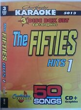 CHARTBUSTER KARAOKE CDG  THE FIFTIES HITS (5013)  3 DISC BOX SET 50 TRACKS   NEW