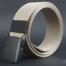 Fashion Wild Male Canvas Belt Hypoallergenic Metal-free Plastic Automatic Buckle
