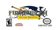 FIRE EMBLEM CORRUPT THEOCRACY Nintendo Gameboy Advance GBA/SP/NDS/NDSL English