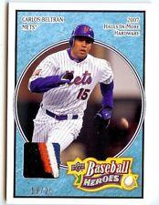 2008 Upper Deck Heroes light blue jersey patch 104 Carlos Beltran 19/25 Mets