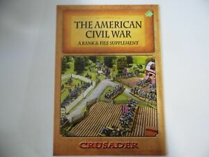 THE AMERICAN CIVIL WAR - A RANK & FILE SUPPLEMENT  - WARGAMES RULES - NEW