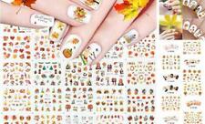 24 Sheets Fall Autumn Nail Stickers Decals Thanksgiving Nail Art Accessories De