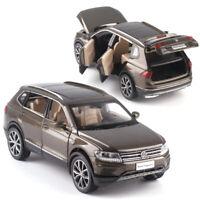 All New Tiguan L SUV 1/32 Metall Die Cast Modellauto Spielzeug Pull Back Braun