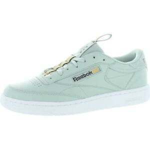 Reebok Mens Club C85 Mu Faux Leather Casual Tennis Shoes Sneakers BHFO 6514