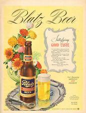 1944 WW2 era AD BLATZ Pilsener BEER Milwaukee's Most Exquisite Beer Nice 081416