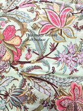 Indian Hand Block Print Dressmaking Cotton Fabric Craft Sewing by 5 Yard