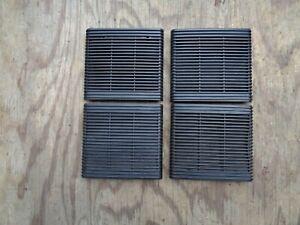 Volvo 740 760 Speaker Grilles BLACK  matched set of 4  F+R doors 1982-1989