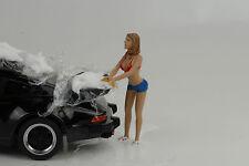 sexy photo Girl modello jennifer AUTO lavare Figure 1:18 Diorama /NO PORSCHE