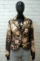 LIU JO Donna 42 S Giacca in Ciniglia Cappotto Vintage Floreale Jacket Woman Slim