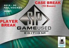 Trent Frederic RC 2019-20 Upper Deck SP GAME USED 10 Bx Case Break Boston Bruins