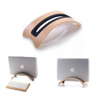 Wooden Vertical Laptop Stand Adjustable Desktop Holder Space-saving Macbook Air