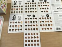 Complete Circ.Set-  Lincoln Memorial Cents 1959 - 2020 in FullColor Coin Folders