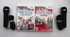 We Sing UK Hits und We Sing Rock Wii PAL