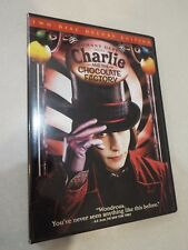 Johnny Depp Charlie and The Chocolate Factory Movie Dvd Euc