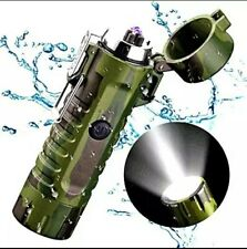 Dual Arc Electric Plasma Lighter with LED Flashlight for Camping  and Survival.