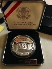 1991 USO 50th Anniversary Commemorative Proof Silver Dollar