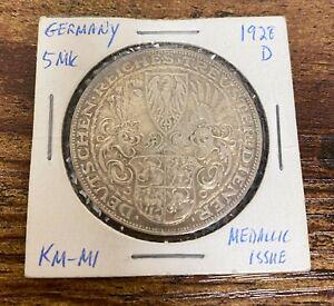 1927 D Germany Karl Goetz Silver Medal Uncirculated! 30