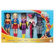 Dc Super Hero Girls Dolls, Set of 5 Supergirl, Wonder Woman, Batgirl,