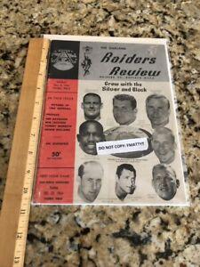 Oakland Raiders vs Bills 1964 Program Review Ex Cond NFL AFL HOF Al Davis