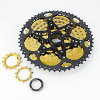 VG sports 11 speed 11-52T MTB gold & black bicycle cassette freewheel sprockets