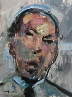JOSE TRUJILLO Abstract Expressionism Portrait Oil Painting Man Expressive SIGNED