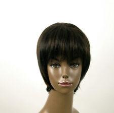 perruque afro femme 100% cheveux naturel méchée noir/cuivré KITTY 01/1b30