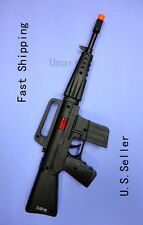 Plastic Machine Gun M16 Boy Toy as  Military Army Soldier Gun Fire Sound