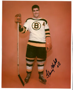 1 - Vintage 8 x 10 Photo of Fleming MacKell   - Boston Bruins - Autographed