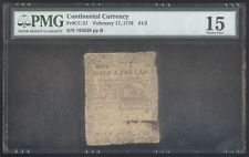Continental Currency $1/2 February 17, 1776 + Pmg + Fr# Cc-21 + No Reserve!