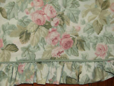 Laura Ashley Cottage Rose Standard Pillow Sham Floral Green Pink Ruffle Nice