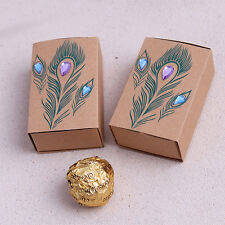 100pcs Diamond Peacock Wedding Favor Candy Box Wedding Party Gift Boxes -US