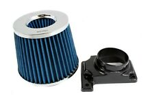 BLUE Mass Air Flow Sensor Intake MAF Adapter + Filter For 94-03 Galant 2.4/3.0L
