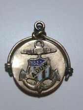 WWII WORLD WAR 2 A.O.U.W ROLLED GOLD FILLED WATCH FOB OR NECKLACE PENDANT