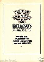 Getreide Büntig & Stannek Breslau XL Reklame 1923 Sämerei Düngemittel Werbung ad