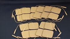 20 Replacement Electrtode Pads for Massagers / Tens Units 2x2Inch White Foam